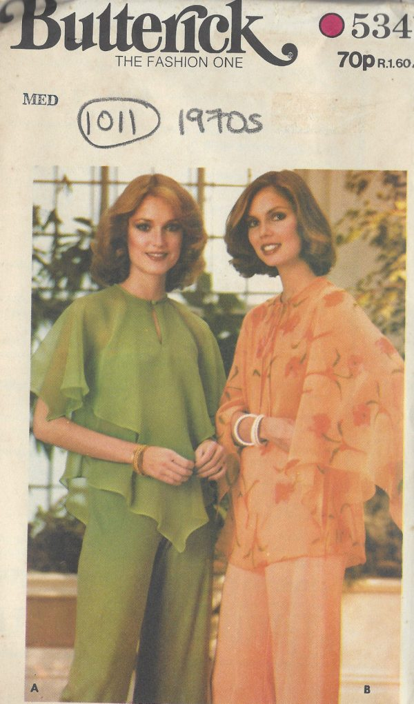 1970s-Vintage-Sewing-Pattern-B34-to-36-BLOUSE-1011-251283564285