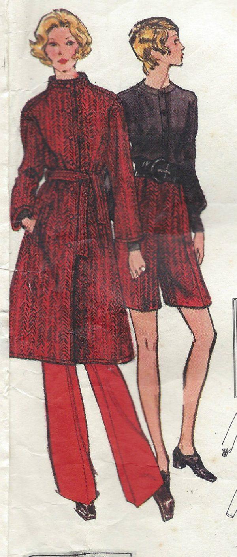 1971-Vintage-VOGUE-Sewing-Pattern-B34-COAT-SKIRT-PANTS-BLOUSE-1343-NINA-RICCI-251703246995-3