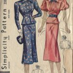 1930s-Vintage-Sewing-Pattern-B32-TWO-PIECE-DRESS-1443-252004941966