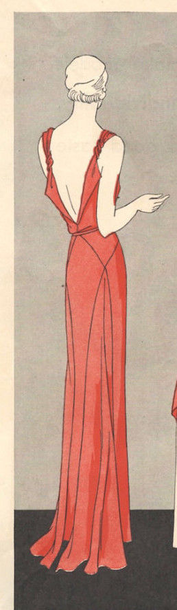 1931-Vintage-VOGUE-Sewing-Pattern-B32-12-DRESS-1201R-261449172576