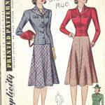 1940-WW11-Vintage-Sewing-Pattern-B30-SKIRT-JACKET-1732R-262576223086