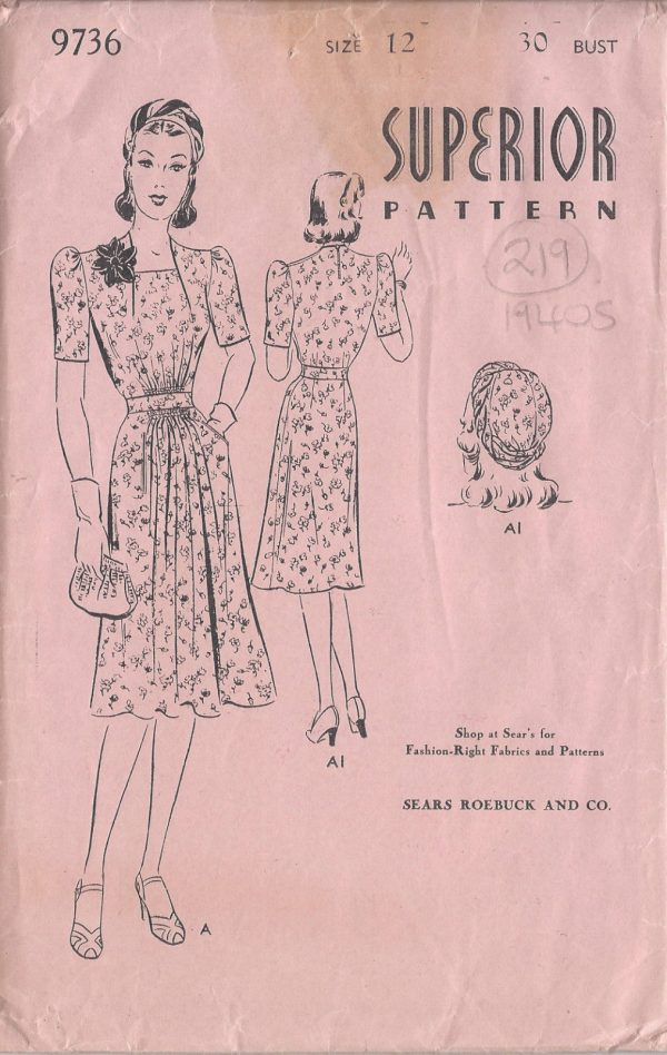 1940s Vintage Sewing Pattern B30