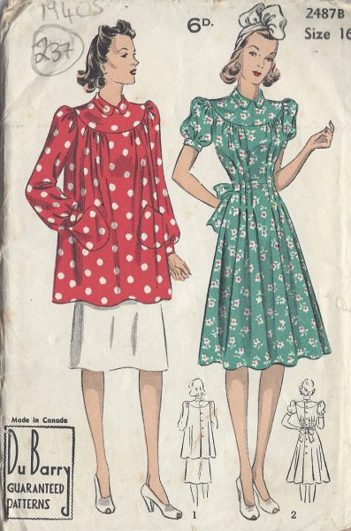 1967 Vintage VOGUE Sewing Pattern B36 SUIT JACKET DRESS BLOUSE Fabiani 1847R