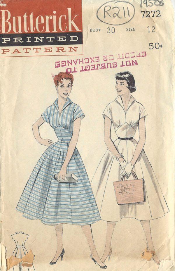 1950s Vintage Sewing Pattern B30\