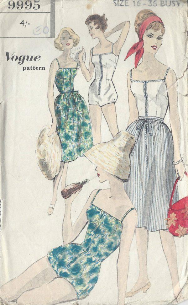 1950s-Vintage-VOGUE-Sewing-Pattern-B36-W28-BATHING-SUIT-SKIRT-R921-252021873316
