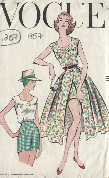 1251 1956 Vintage VOGUE Sewing Pattern W28 SKIRT