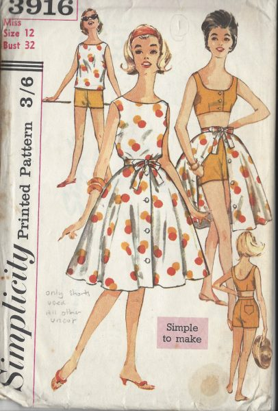 1960s Skirt Vintage Sewing Patterns