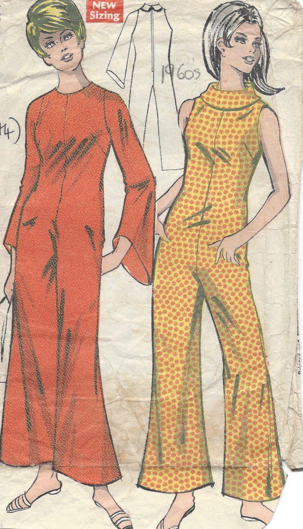 1960s-Vintage-Sewing-Pattern-B36-CAT-SUIT-JUMPSUIT-R674-251181543316