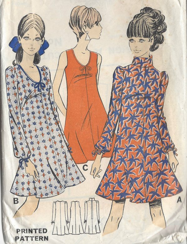 71a157e227 1960s Vintage Sewing Pattern B36 DRESS (R688) Barbara Hulanicki ...