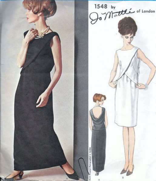 1965 Vintage VOGUE Sewing Pattern B34 EVENING DRESS (1804) By Jo ...