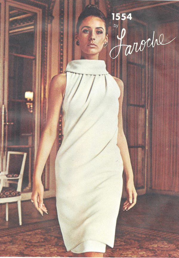 1965-Vintage-VOGUE-Sewing-Pattern-B36-DRESS-1386-By-Laroche-252432868366-3