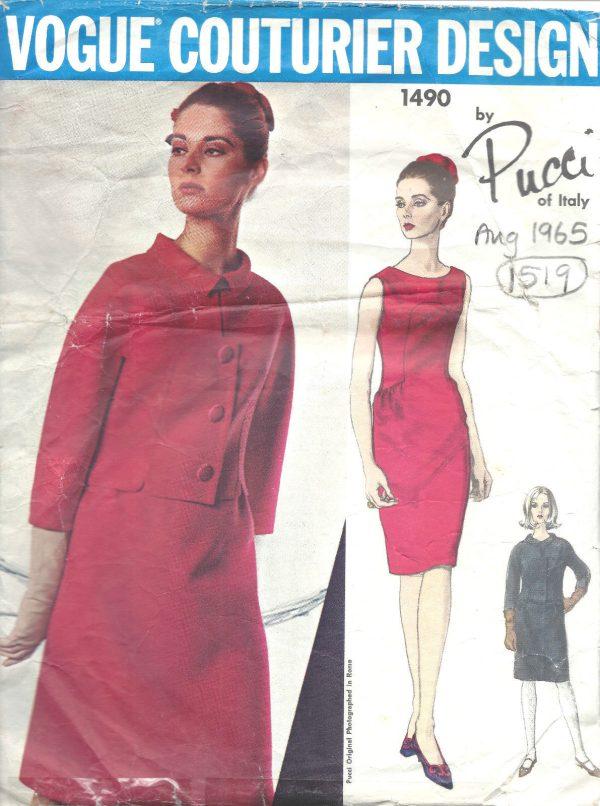 1960s Vintage Vogue Sewing Pattern vestido de B36 por Pedro rodgiguez 1833