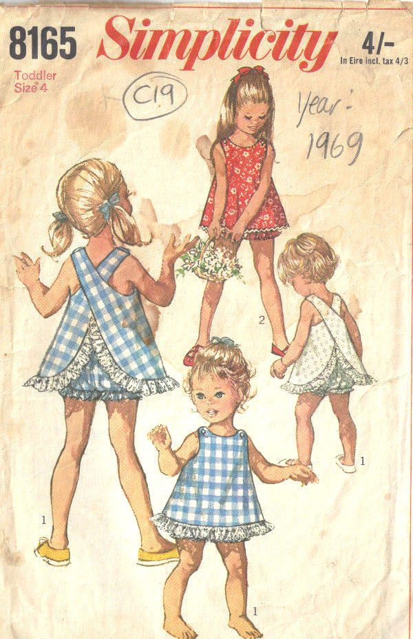 1969-Childrens-Vintage-Sewing-Pattern-S4-B23-TOP-BLOOMERS-C19-252521380666