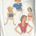 1975-Vintage-Sewing-Pattern-B36-TOP-HALTER-TOP-BRA-R694-251181604876-3