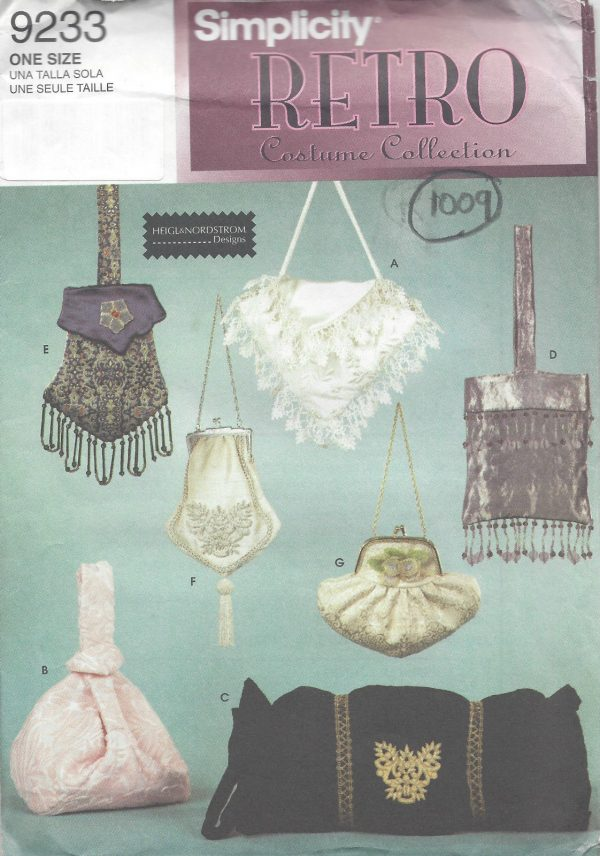 1900s-to-1950s-Vintage-Sewing-Pattern-BAGS-MUFF-1009-251283568727