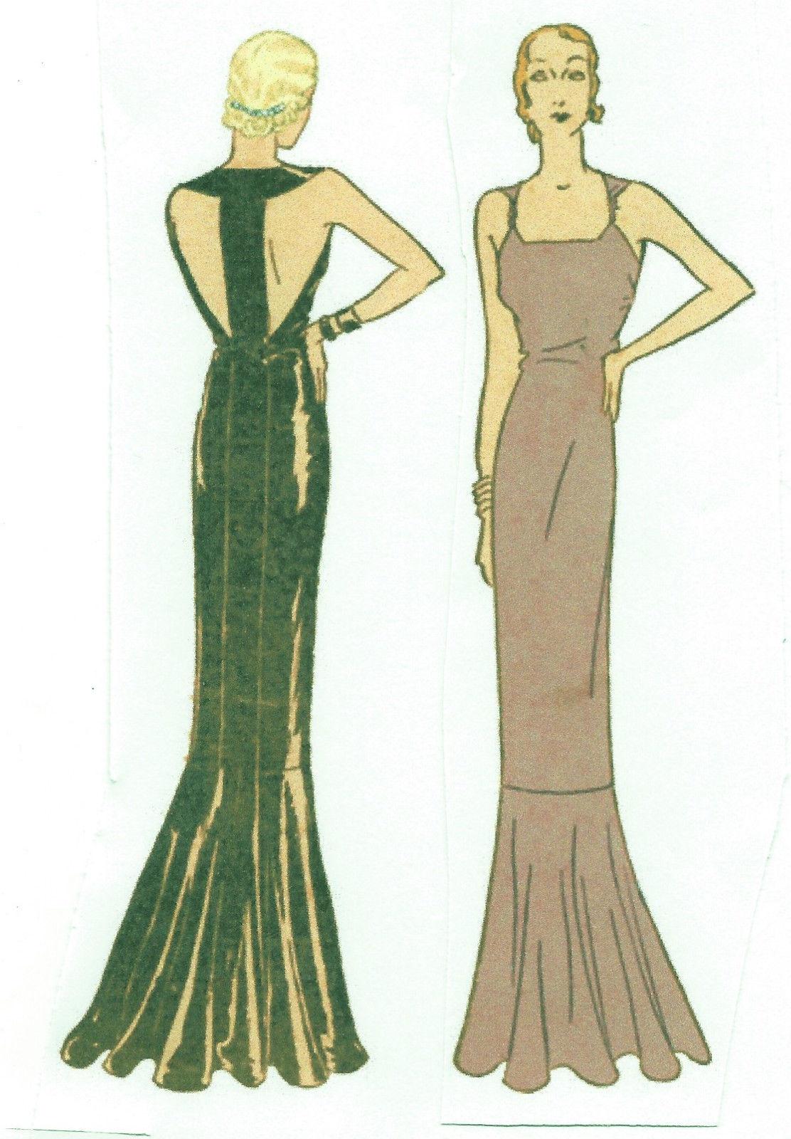 1930s Vintage Sewing Pattern B34 EVENING DRESS (R952) - The Vintage ...
