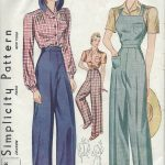 1940-Vintage-Sewing-Pattern-B34-W28-BLOUSE-TROUSERS-OVERALLS-31-251148603937