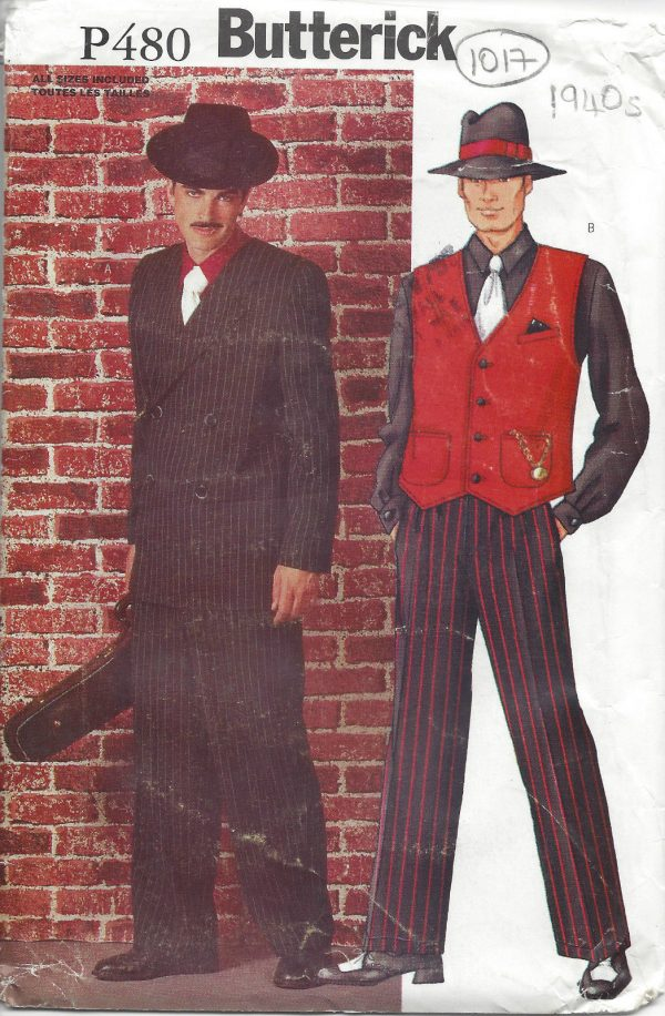 1940s-Vintage-Sewing-Pattern-C30-to-48-MENS-SUIT-COSTUME-XS-S-M-L-XL-1017-251285474567