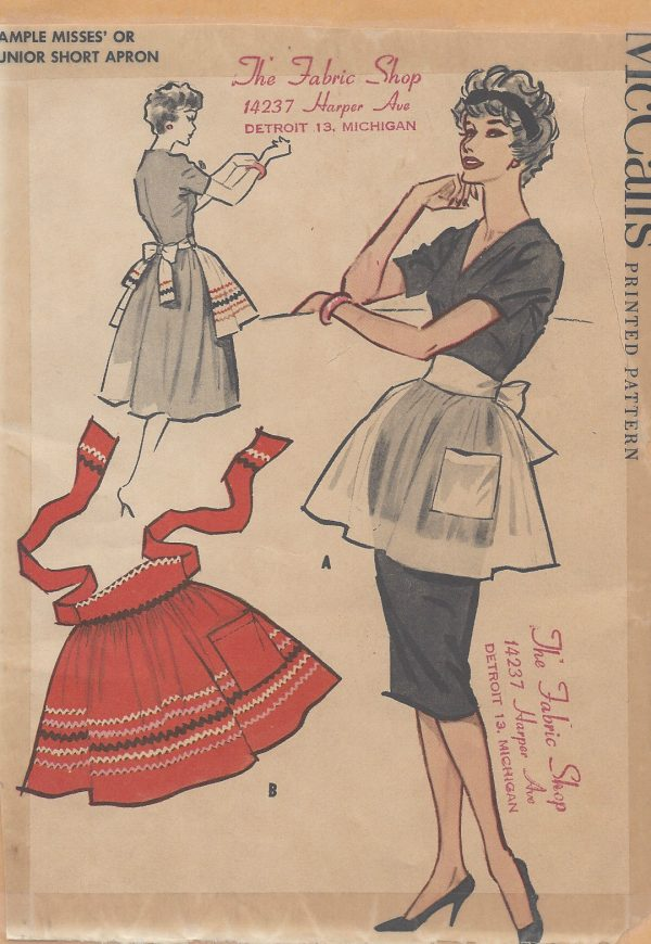 1950s-Vintage-Sewing-Pattern-APRON-ONE-SIZE-R27-251144894837