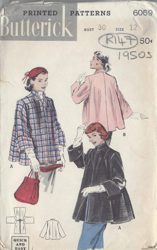 1950s-Vintage-Sewing-Pattern-B30-COAT-R147-251165517547