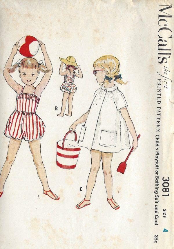 1954 Childrens Vintage Sewing Pattern S4 C23\