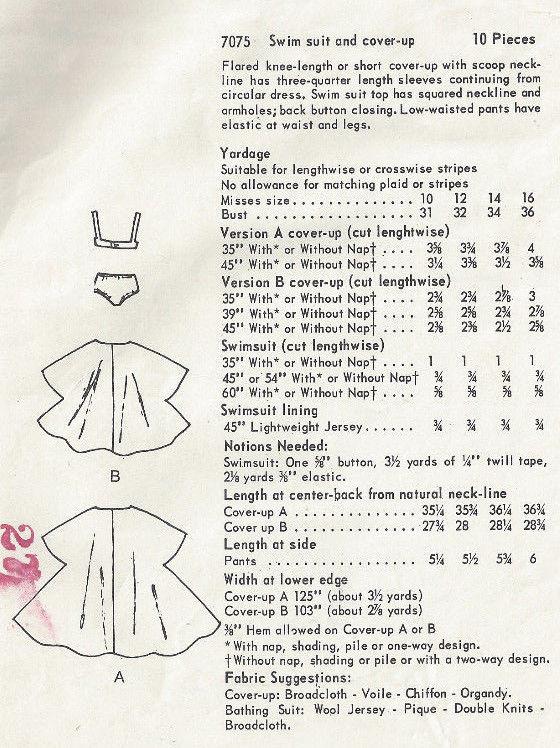 1960s-Vintage-VOGUE-Sewing-Pattern-B34-SWIM-SUIT-COVER-UP-1596-252847099857-2