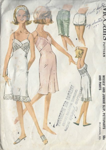 1960s nightwear Vintage Sewing Patterns