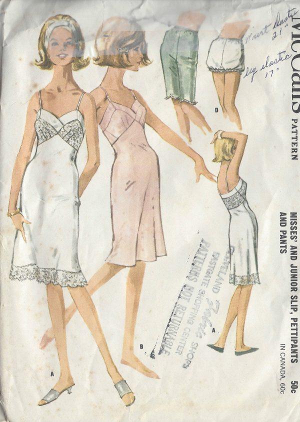 1962-Vintage-Sewing-Pattern-B31-SLIP-PETTIPANTS-PANTS-R619-251151014347