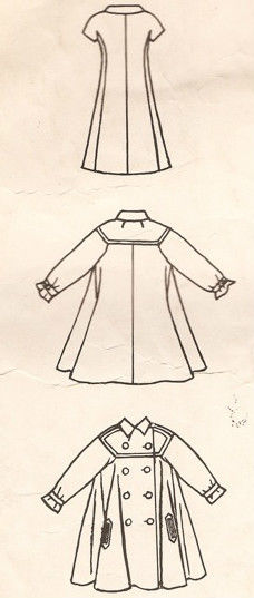 1965 Vintage VOGUE Sewing Pattern B34 COAT /& DRESS 1318R By Fabiani of Italy