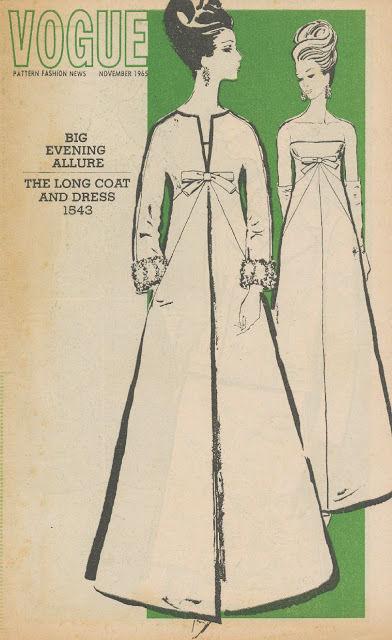 par Patou 1628 1965 Vintage Vogue Sewing Motif B34 Robe de soirée /& Manteau