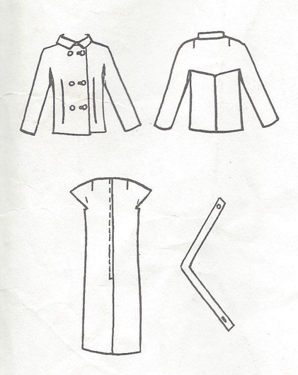 1968 Vintage VOGUE Sewing Pattern B36 JACKET & DRESS (1056) By ...