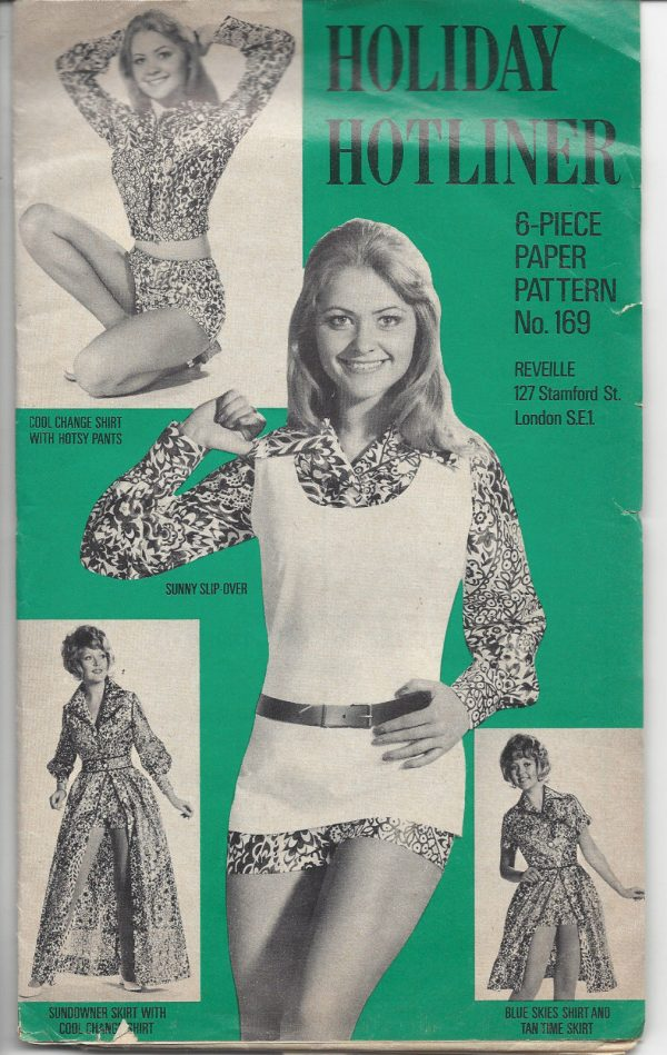 1970s-Vintage-Sewing-Pattern-B36-W27-HOTPANTS-SKIRT-SHIRT-SLIP-OVER-R719-251174606657