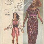 1971-Vintage-Sewing-Pattern-B34-36-MINI-MAXI-LENGTH-DRESS-1799-252827254607