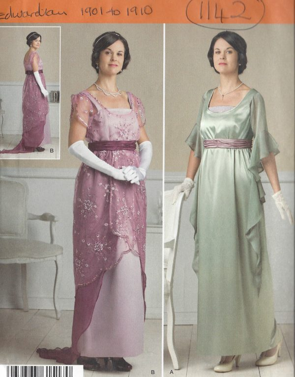 1900s-Edwardian-Vintage-Sewing-Pattern-DRESS-CORSET-SKIRT-B40-42-44-46-481142-251500027768