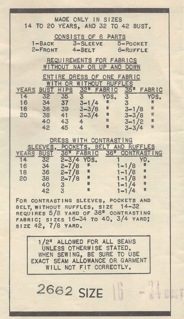 1930s-Vintage-Sewing-Pattern-B34-DRESS-1435-By-ANNE-ADAMS-261895349678-2