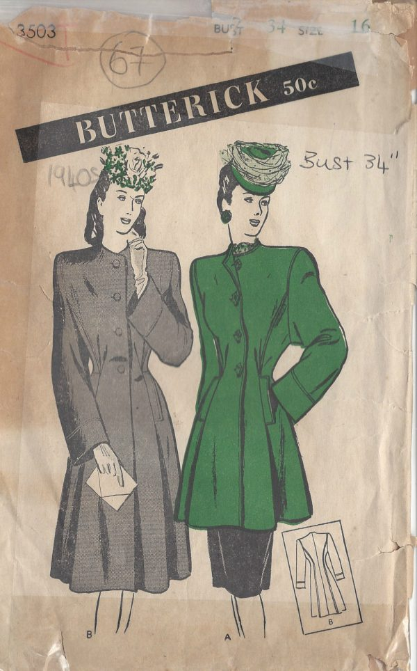 1940s-Vintage-Sewing-Pattern-B34-COAT-67-251149287918
