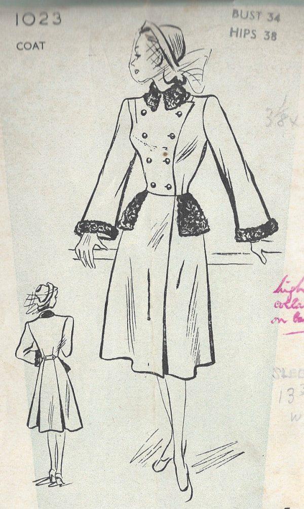 1940s-Vintage-Sewing-Pattern-B34-COAT-R794-251191808398