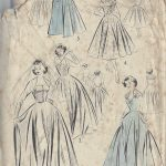 1950s-Vintage-Sewing-Pattern-B34-WEDDING-DRESS-BRIDESMAID-DAY-DRESS-R780-251188821058