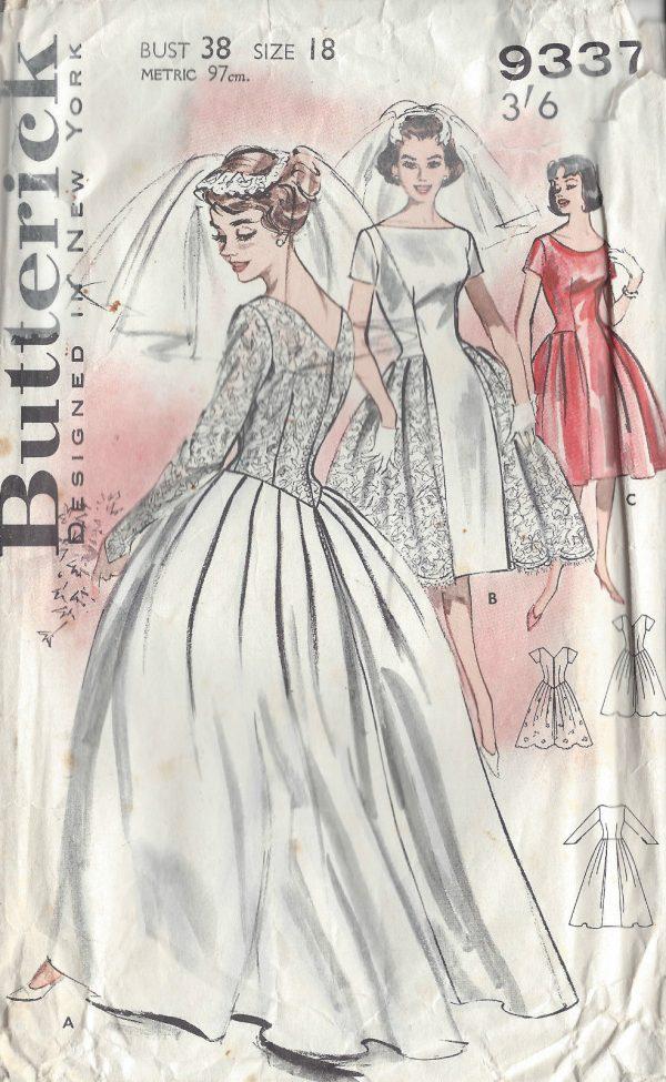 1950s Vintage Sewing Pattern B38 Wedding Amp Bridesmaid S