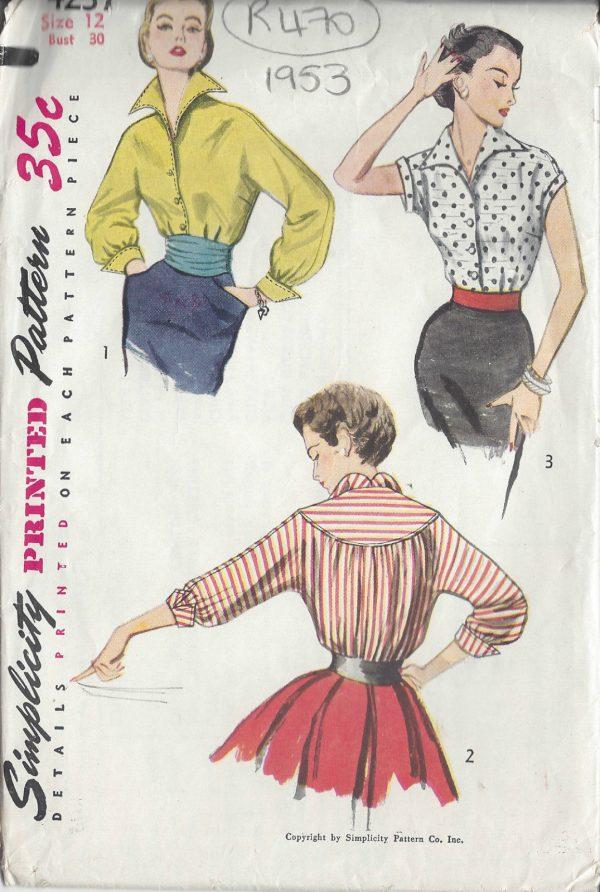 1953 Vintage Sewing Pattern B30\