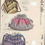 1953-Vintage-Sewing-Pattern-DRAWSTRING-BAGS-1678-252451887768