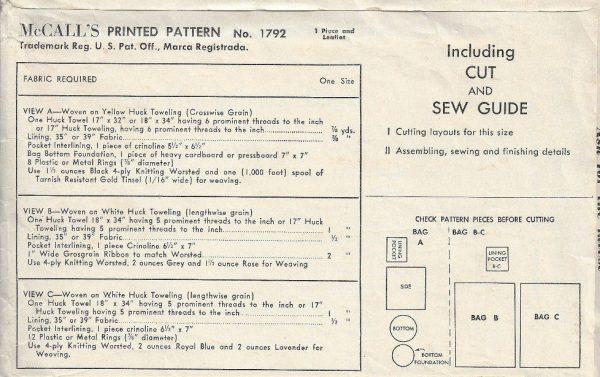 1953-Vintage-Sewing-Pattern-DRAWSTRING-BAGS-1678-252451887768-2