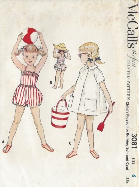 1954 Childrens Vintage Sewing Pattern S6 C24\