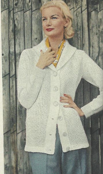 By VOGUE 1959 Vintage KNITTING Pattern V107