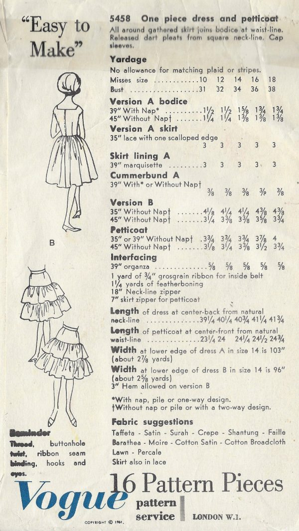 1961-Vintage-VOGUE-Sewing-Pattern-B34-DRESS-PETTICOAT-1473R-261986961478-2