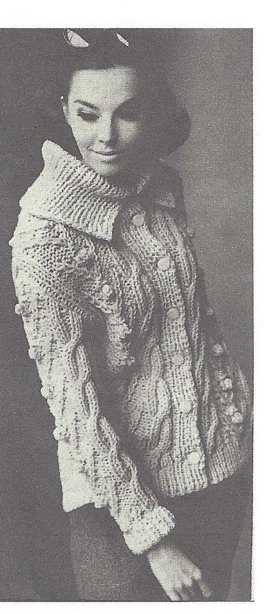 1964 Vintage Knitting Pattern V51 By Vogue The Vintage Pattern Shop