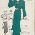 1930s-Vintage-Sewing-Pattern-B32-DRESS-TUNIC-BLOUSE-1530R-262080975579