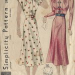 1930s-Vintage-Sewing-Pattern-B34-DRESS-1439-261941886689