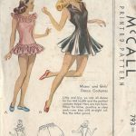 1940s-Vintage-Sewing-Pattern-B32-LEOTARD-DRESS-BLOOMERS-DANCE-COSTUME-R712-251174320949