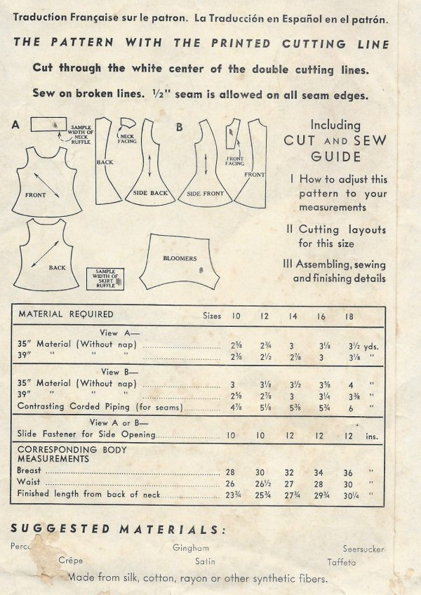 1940s-Vintage-Sewing-Pattern-B32-LEOTARD-DRESS-BLOOMERS-DANCE-COSTUME-R712-251174320949-2